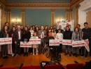 VIDE entregou cheques por un total de 20.000 euros para premiar a traxectoria na campaña 18/19 de vinte deportistas sub-23