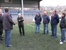 Manel Fernández visitou as obras de mellora do campo de As Relfas coas directivas do Sárdoma e do Moledo